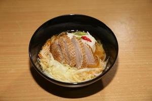 pot-stewed duck with white cabbage photo