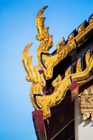 Thai Temple rooftop photo