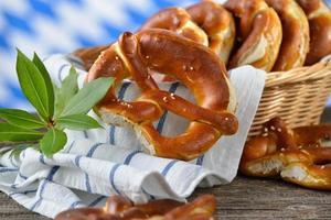 Fresh pretzels photo