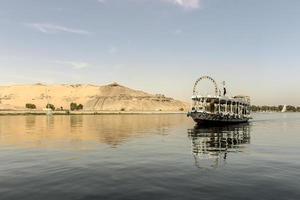 Nilo en Aswan foto