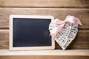 Menu blackboard. photo