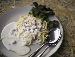 menú de espagueti foto
