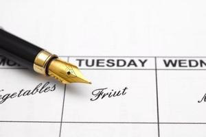 planejador de cardápio semanal