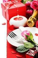 concepto de menú de San Valentín foto