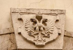 símbolo de águila de doble cabeza foto