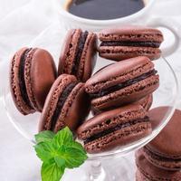 macarons de chocolate con cardamomo foto