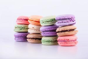 macarons coloridos franceses tradicionales foto