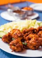 pakora, breaded vegetables typical of Indian