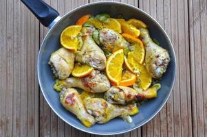 Orange chicken legs