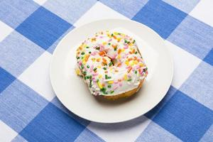 Iced cake donut photo