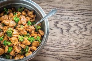 Chicken with broccoli photo