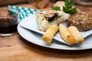 comida típica y marroquí fresca foto