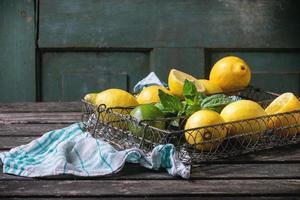 Lemons, limes and mint