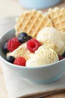 Ice cream with berries photo