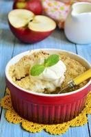 Apple and pear crumble. photo