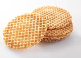 Waffle wafer biscuits for garnishing