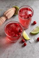 Drink with cranberry
