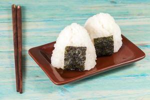 Rice ball,onigiri ,rice mixing with seaweed.