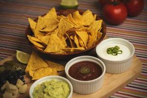 Nachos with Dipping Sauces 7