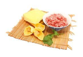 Wonton raw ingredients