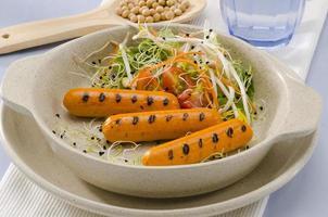 Vegetarian tofu sausage. photo