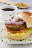 Vegetarian tofu burger.