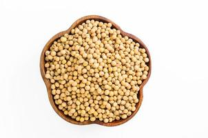 soybeans in wooden bowl