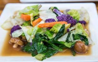 vegetales fritos foto