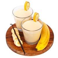 delicioso batido de plátano foto