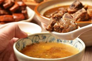 mutton hot pot. photo