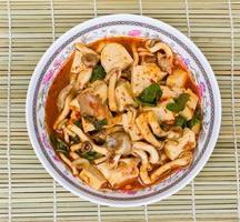 Mushroom Curry put the mushrooms and tofu