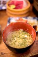 Miso soup. photo