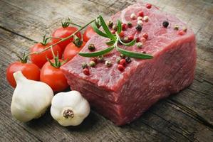 raw steak with pepper