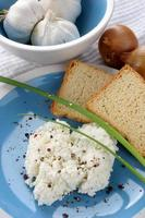 Cottage cheese, healthy breakfast photo