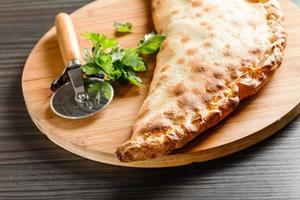 calzone pizza photo