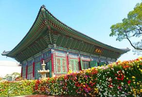 Temple and Palace Traditional Architecture, Seoul, South Korea photo