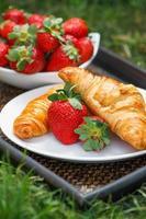 desayuno al aire libre foto