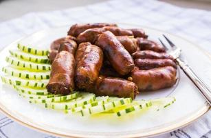 Sausage,Food of northern Thailand photo
