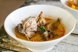 Tom ñame, sopa picante en Tailandia.