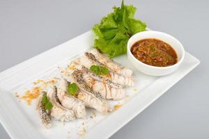 Boiled fish photo