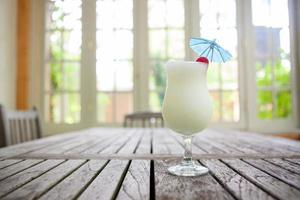 Pina colada on a table