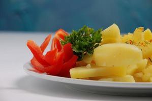 Cooked potatoes photo