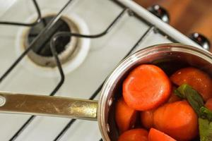 Cooking tomatoes photo