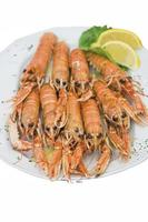 Cooked langouste photo