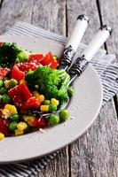 Cooked colorful vegetables