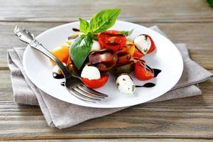 beautiful and tasty salad photo