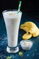 fresh banana milk smoothie