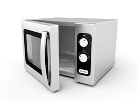 Silver microwave oven photo