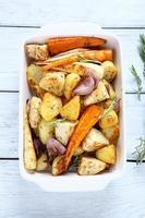appetizing oven baked vegetables