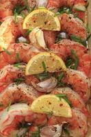 oven roasted King Prawns